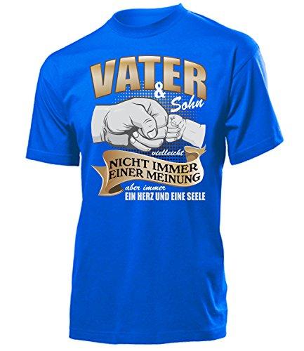love-all-my-shirts Vater und Sohn Vielleicht Nicht Immer Einer Meinung aber Immer ein Herz und eine Seele 5367 Herren T-Shirt (H-B) Gr. S - Blau Tragbarer Grill