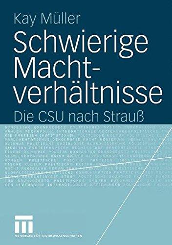 (Schwierige Machtverhältnisse: Die CSU nach Strauß)