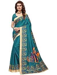 Traditional Fashion Women's Kalamkari Design Khaddi Silk Saree With Blouse Piece-TFS1960_TF