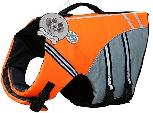 VIVAGLORY New Sports Style Ripstop Dog Life Jacket with Superior Buoyancy & Rescue Handle 2