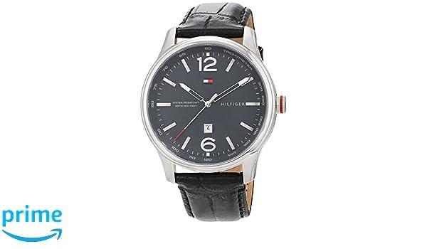 89e6adf73a3 Tommy Hilfiger Homme Analogique Classique Quartz Montres bracelet avec  bracelet en Cuir - 1710314  Amazon.fr  Montres
