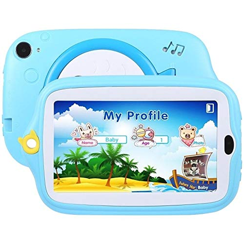 Fulltime E-Gadget 7 Zoll Kinder Android 4.4 Tablet PC,512MB+ 8G Quad-Core WiFi Kamera Kinder Geschenk Tablet PC (Blau)