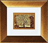 artissimo, Kunstdruck gerahmt, 41x36cm, AG3806, Gustav Klimt: The Fullfillment, Bild, Wandbild, Poster, Wanddekoration