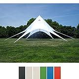 CLP Sternzelt für den Garten I Event-Zelt mit 10 Meter Durchmesser I Gartenzelt mit einer überdachten Fläche von ca. 15 m² I In verschiedenen Farben erhältlich Weiß