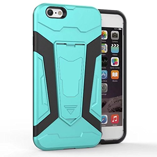 Neue Rüstung Tough Style Dual Layer Hybrid Armor Defender PC Hard Shell Cover mit Kickstand [Shockproof Case] Für iPhone 6 & 6s ( Color : Green ) Green