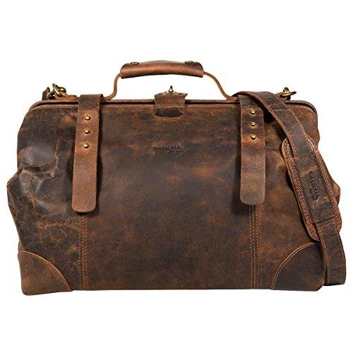 Greenland Classic Bügeltasche Doktorkoffer Leder 41 cm brown