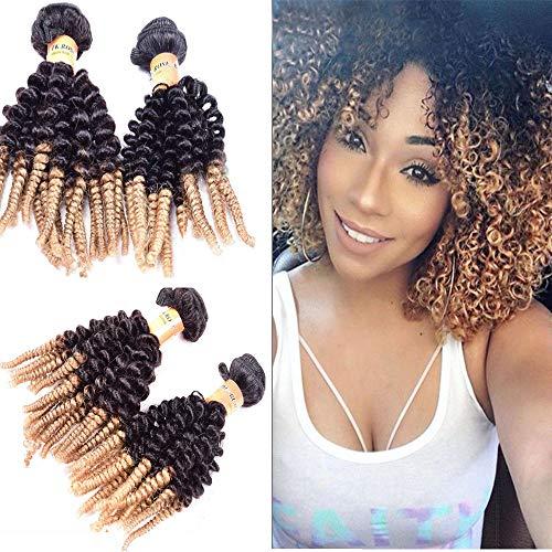Morningsilkwig - Extensiones de cabello humano rizado Afro Kinky T1b27