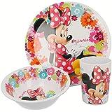 Mouse-14590 Minnie Mouse - Set desayuno melamina sin orla 3 piezas (Stor 14590