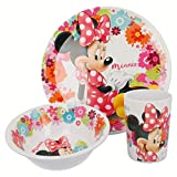 Mouse-14590 Minnie Mouse - Set desayuno melamina sin orla 3 piezas (Stor 14590) (