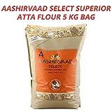 Aashirvaad Select Atta | Harina de Trigo Integral de la India Para Hornear Panes Planos, Roti, Naan, Chapati y Puri | Bolsa de 5 kg