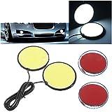 #9: AllExtreme 2X Car LED Daytime running lights Round LED COB 100chips Diameter 83mm 26W per set motor DRL white 12V