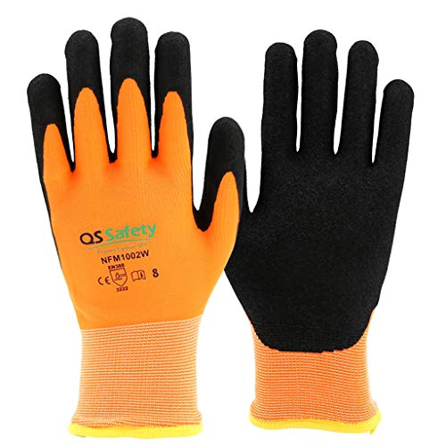 Arbeitsversicherung Arbeitshandschuhe rutschfeste, Abriebfeste Winterhandschuhe für niedrige Temperaturen, Kälte- und Frostschutzverdickung sowie Samt zum Warmhalten LFOZ (Size : XL) -