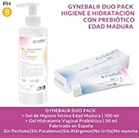 GYNEBAL® DUO PACK Edad Madura | Gel de Higiene Íntima 300 ml + Gel Hidratación Vaginal Prebiótico 50 ml | Fabricado.