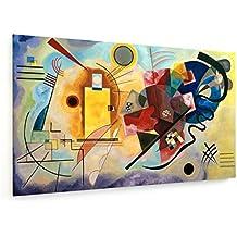 Wassily Kandinsky - Amarillo - Rojo - Azul - 100x60 cm - Impresión en lienzo textil - weewado - Muro de arte - Old Masters / Museum