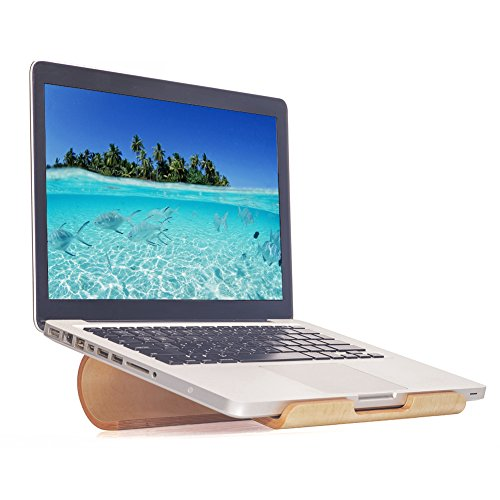 SAMDI Laptop-Ständer/Kühl-Ständer/Belüfteter Laptop-Ständer aus Holz für MacBook Air/Pro Retina Laptop PC Notebook D-white Birch 24.8 x 23.2 x 7.2 cm
