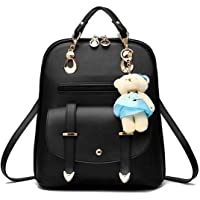 Alison Cute Backpack and Fashion Backpack for Girls and Women, College Bag for Girls (Black)