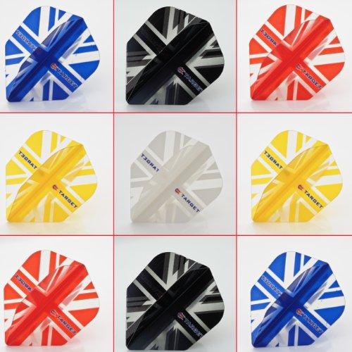 5 x gemischt Sets of Target Vision Union Jack Dart Flights Standard Form