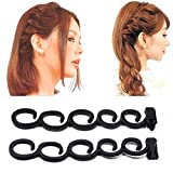 HENGSONG Fashion Hair Braiding Tool DIY Magic Hair Twist Styling Accessories (Black)