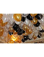 Mayra Birthday Planner Trishra Metallic Junction Gold, Black and White Balloon Planner (Pack of 50)