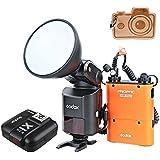Godox Studio Witstro AD360II TTL Flash Speedlite pour appareil photo 360 W GN80 puissant 2,4 G sans fil Speedlite X 4500 mAh PB960 batterie lithium et Transmetteur X1 TTL pour appareils photo Canon et Nikon