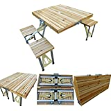Amaze Folding Aluminium Outdoor Table With Wooden Top (Bare Table)