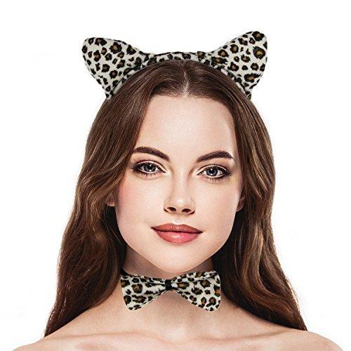 LUX Zubehör Halloween Leopard Ohr, Schleife Schwanz Zubehör Kostüm-Set ()