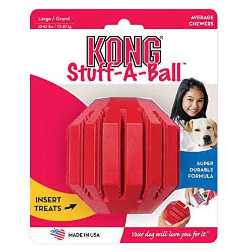 hundeinfo24.de Kong Stuff a ball (L) 15530 Hunde-Spielzeug ca. 9 cm