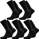 normani 20 Paar Elegante Herrensocken in Schwarz oder Weiß aus 100% Baumwolle ohne Naht Farbe Schwarz Größe 39/42