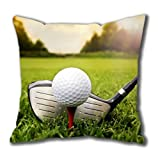 Betsey Shockley Fashion Golf Ball on The Green Grass Square Pillow Case Cotton You Perfect Idea