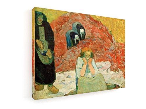 Paul Gauguin, Menschl. Elend - Weinlese - 40x30 cm - Leinwandbild auf Keilrahmen - Wand-Bild - Kunst, Gemälde, Foto, Bild auf Leinwand - Alte Meister / (Volkstrachten Französische)
