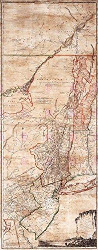 Doppelganger33 LTD Map Antique 1768 Holland Jeffreys New York Jersey Replica Canvas Art Print