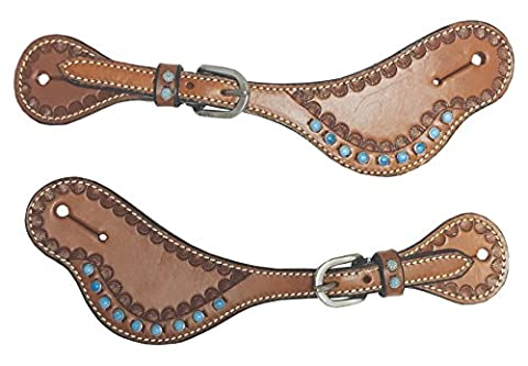 The Colorado Saddlery 26-5102Dk Turquesa Spur Strap, Dark Brown