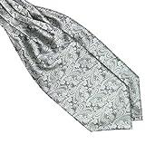 BOBORA Fazzoletto da collo di uomini cravatta foulard raso Paisley cravatta per il matrimonio