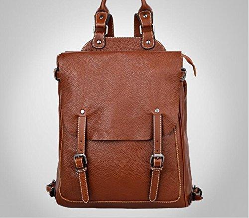 DJB/ Retro-Umhängetaschen Mann Tasche Retro-Wildleder Leder Handtasche Rucksack Brown
