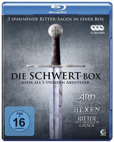 Die Schwert-Box - 3 spannende Ritter-Sagen in einer Box: ARN - Der Kreuzritter, Hexen - Die letzte Schlacht der Templer, Ritter des heiligen Grals [Blu-ray]