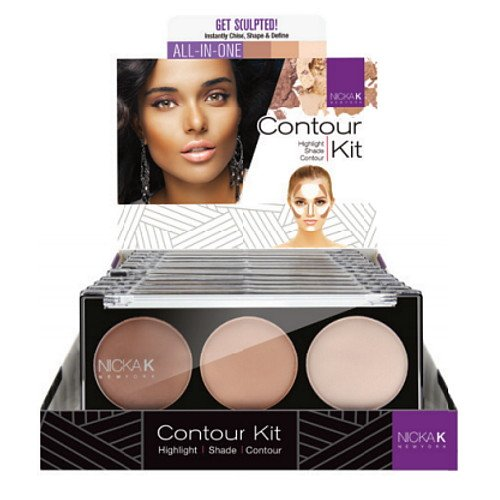 NICKA K Contour Kit Display Case Set 12 Pieces CK01