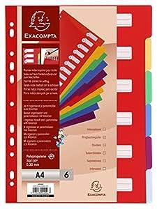 Exacompta 4906E Divisori e Segnaletica, 21x29.7 cm, Multicolore