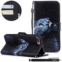 HUDDU Bunt Muster Handyhülle iPhone 7 Plus Leder Hülle Flip Wallet Case Ledertasche im Bookstyle mit Kartenfach... preisvergleich bei billige-tabletten.eu