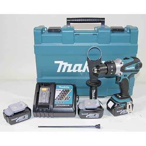 Makita DHP458RFE3 - Praticare combinato 3 batterie