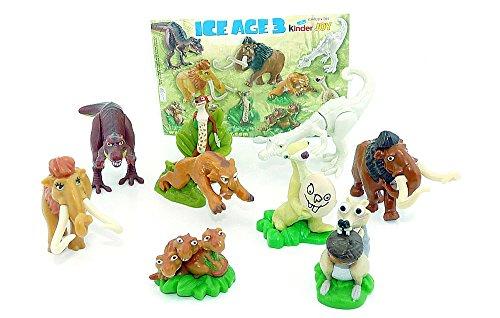 Kinder Überraschung, Alle 10 Figuren von Ice Age 3 mit Einem BPZ
