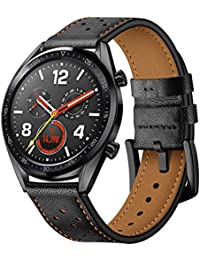 05d6e524365 22mm Multi-Colored Fashion Leather Watch Band Wrist Strap for Huawei Watch  GT (Black