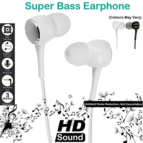 Mobile Gabbar SSKK Earphones With Mic / Headphone with Mic with Super HD Bass For Apple iPhone, iPhone 4/ 4S/ 5/ 5S/ 6/ 6S, iPad, iPod, Android Phones With 3.5mm Jack  available at amazon for Rs.129