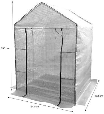 Zelsius® - Abdeckhaube für Folien Gewächshaus, Anzuchthaus, 195 x 143 x 143 cm, Cover für Folienhaus von Zelsius - Du und dein Garten