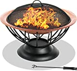 CENTURION Supports fireology Valentina Kupfer gehämmert Fire Pit, Garten & Terrasse Heizung, Couchtisch, Grill und Ice Bucket