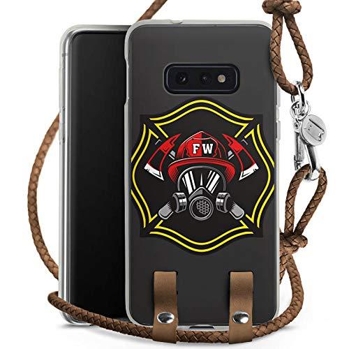 DeinDesign Carry Case kompatibel mit Samsung Galaxy S10e Handykette Handyhülle zum Umhängen Feuerwehrmann Rettungsdienst Feuerwehr