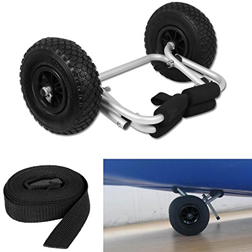 CellDeal Foldable Kayak Canoe Boat Trolley Carrier Transport Cart With Strap Test