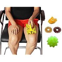 Preisvergleich für Pyramidenkörperpflege Akupressur Magnetic Massagegerät Müdigkeit GRATIS KUGEL Massagegerät, Akupressur DAUMEN...
