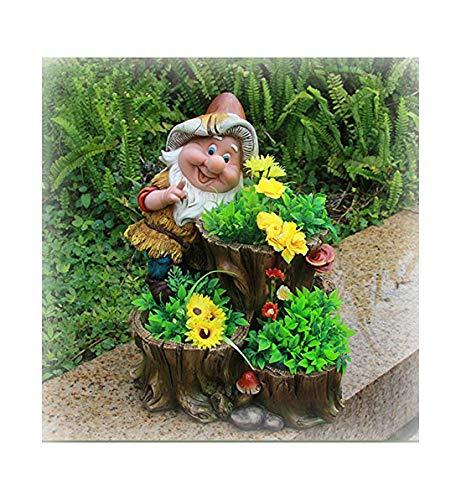 Design XL Zwerg mit 3 Blumentopf 27 cm Hoch NF 15195 Deko Garten Gartenzwerg Figuren Dekoration | Garten > Dekoration > Dekofiguren | GMMH