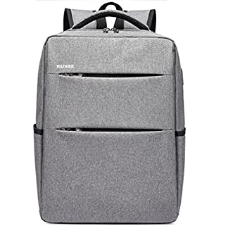 Beibao Mochila de Ordenador portátil Gris para hasta 15,6 Pulgadas de portátiles Hombre y Mujer Estudiante de Ocio Mochilas de Viaje Moda Interfaz USB Externa