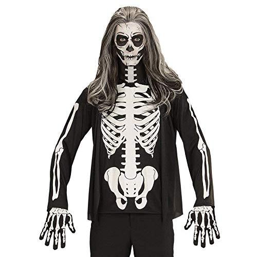 tt Shirt / Pullover mit Knochen in weiß Gr. XL für Herren / Halloween Kostüm Zubehör ()